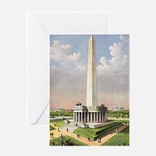 The National Washington Monument - 1885 Greeting C