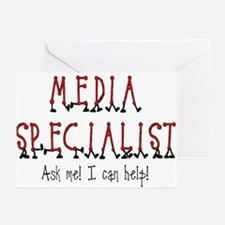Media Specialist Greeting Cards (Pk of 10)