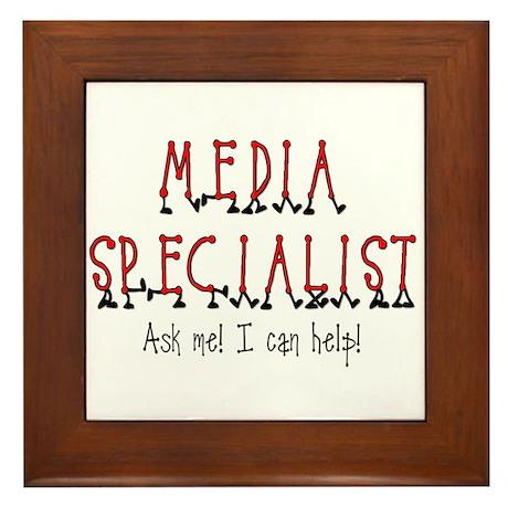 Media Specialist Framed Tile