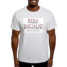 Media Specialist Ash Grey T-Shirt