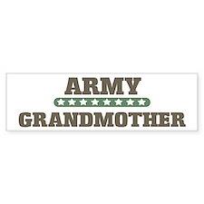 Army Stars Grandmother Bumper Bumper Sticker
