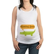 Funny Coming Soon Alligator Maternity Tank Top