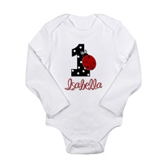 ISABELLA Ladybug 1st Birthday 1 Body Suit