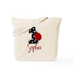 SOPHIA Ladybug 1st Birthday 1 Tote Bag