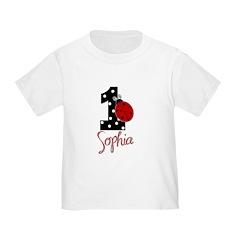 SOPHIA Ladybug 1st Birthday 1 T-Shirt