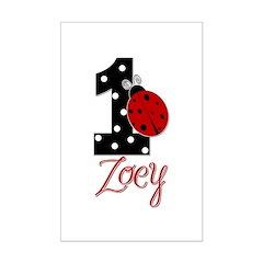 ZOEY Ladybug 1st Birthday 1 Posters