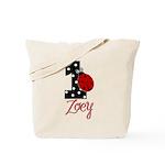 ZOEY Ladybug 1st Birthday 1 Tote Bag