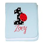 ZOEY Ladybug 1st Birthday 1 baby blanket