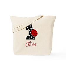 OLIVIA Ladybug 1st Birthday 1 Tote Bag