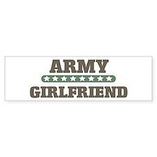 Army Stars Girlfriend Bumper Bumper Sticker