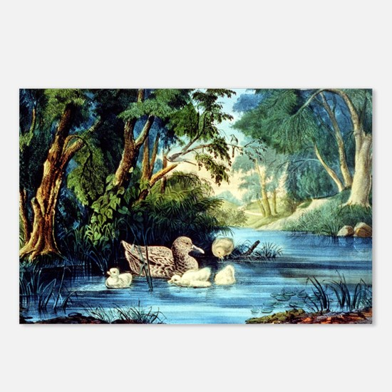 The pond in the woods - 1856 Postcards (Package of