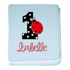 ISABELLE Ladybug 1st Birthday 1 baby blanket