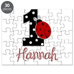 HANNAH Ladybug 1st Birthday 1 Puzzle