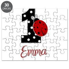 EMMA Ladybug 1st Birthday 1 Puzzle