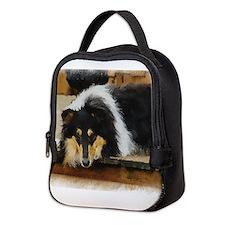 Rough Tri Collie Neoprene Lunch Bag