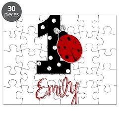 EMILY Ladybug 1st Birthday 1 Puzzle