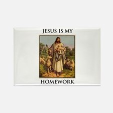 Cute Jesus my homeboy Rectangle Magnet