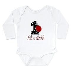 ELIZABETH Ladybug 1st Birthday 1 Body Suit