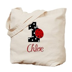 CHLOE Ladybug 1st Birthday 1 Tote Bag