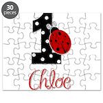 CHLOE Ladybug 1st Birthday 1 Puzzle
