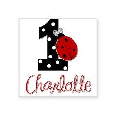 CHARLOTTE Ladybug 1st Birthday 1 Sticker