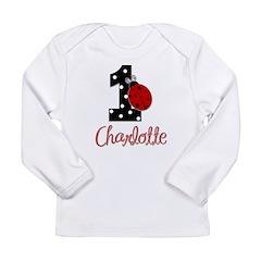 CHARLOTTE Ladybug 1st Birthday 1 Long Sleeve T-Shi