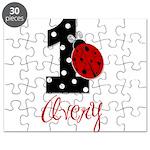 AVERY Ladybug 1st Birthday 1 Puzzle