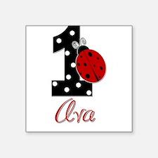 AVA Ladybug 1st Birthday 1 Sticker