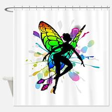 Rainbow Fairy Shower Curtain