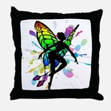 Rainbow Fairy Throw Pillow