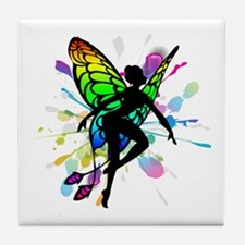 Rainbow Fairy Tile Coaster