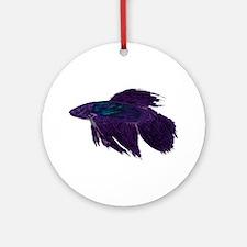 Beautiful Betta Ornament (Round)