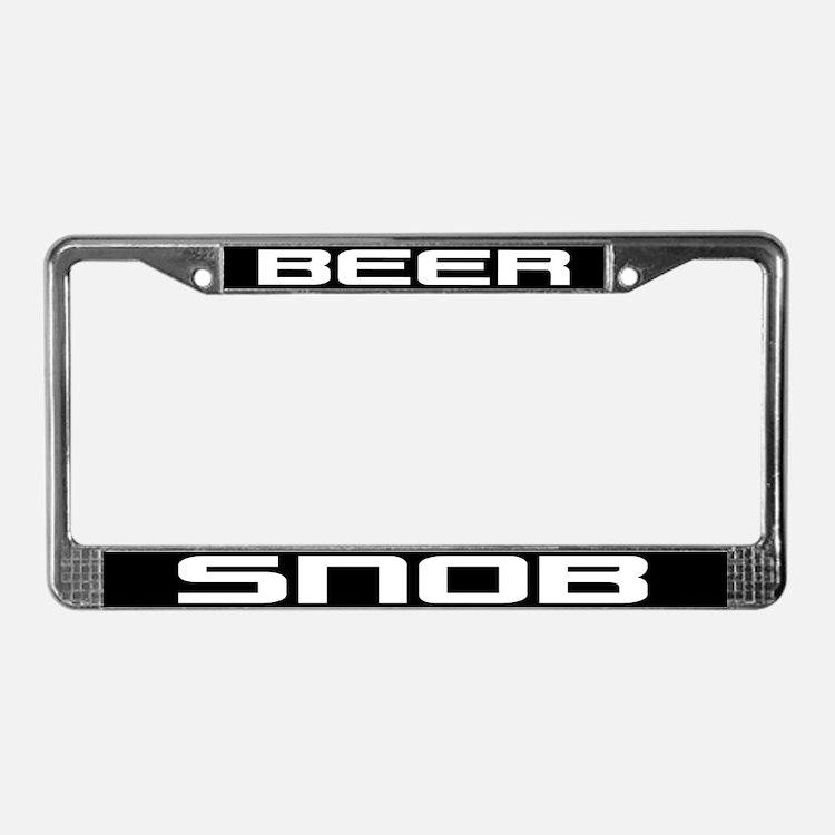 Beer Snob License Plate Frame