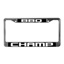 BBQ Champ License Plate Frame