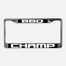 BBQ Champ License Plate Frame