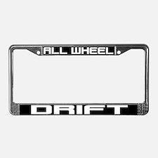 All Wheel Drift License Plate Frame