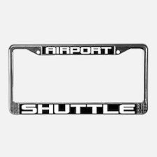 Airport Shuttle License Plate Frame