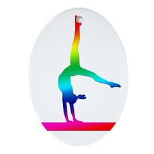 Rainbow Flip Flop Oval Ornament