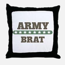 Army Stars Brat Throw Pillow