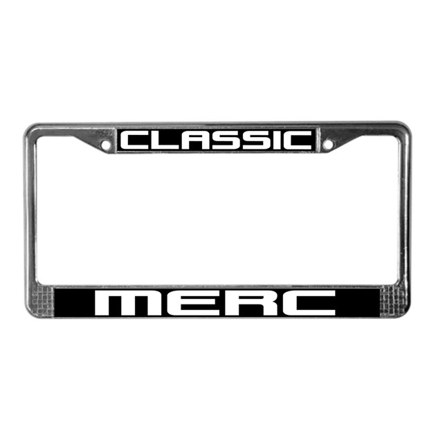 Classic Merc License Plate Frame By SHOPOFSPEED