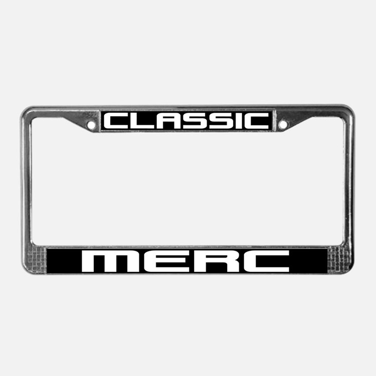 Classic Merc License Plate Frame