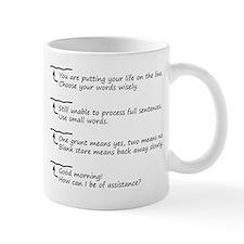 Morning Coffee Level Small Mugs