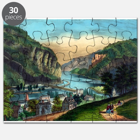 View of Harpers Ferry, Va. - 1907 Puzzle