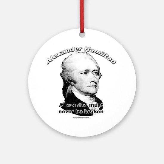Alexander Hamilton 01 Ornament (Round)
