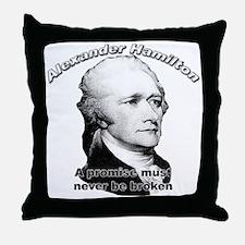 Alexander Hamilton 01 Throw Pillow