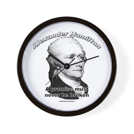 Alexander Hamilton 01 Wall Clock