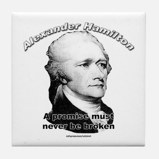 Alexander Hamilton 01 Tile Coaster