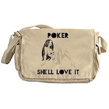 Poker She'll Love It Messenger Bag