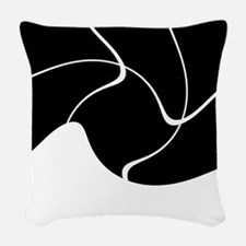 Its Just Black and White Woven Throw Pillow