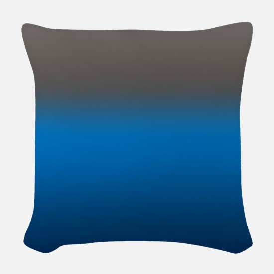 The Contessa in Blue Woven Throw Pillow